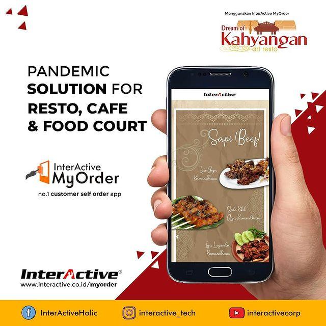 Klien InterActive, myorder,Restoran Kahyangan, InterActive MyOrder Menu Statis