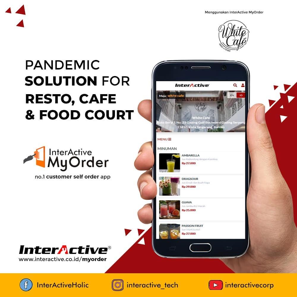 Klien InterActive, myorder,White Cafe, InterActive MyOrder