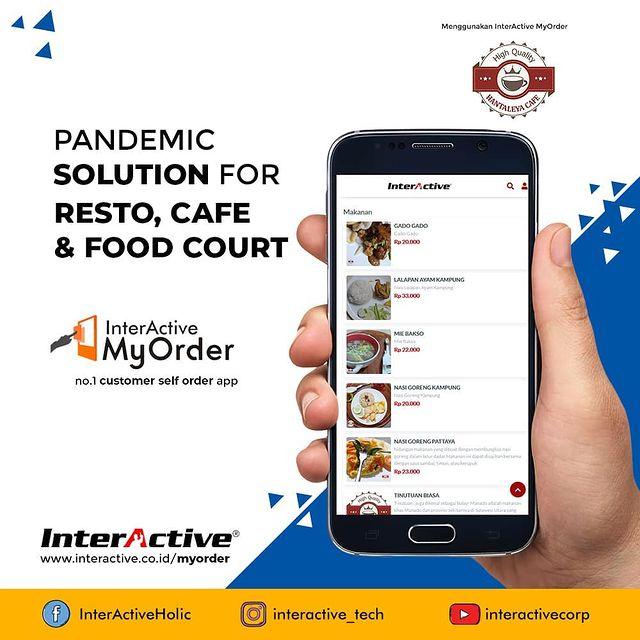 Klien InterActive, myorder,Hantaleya Cafe, InterActive MyOrder