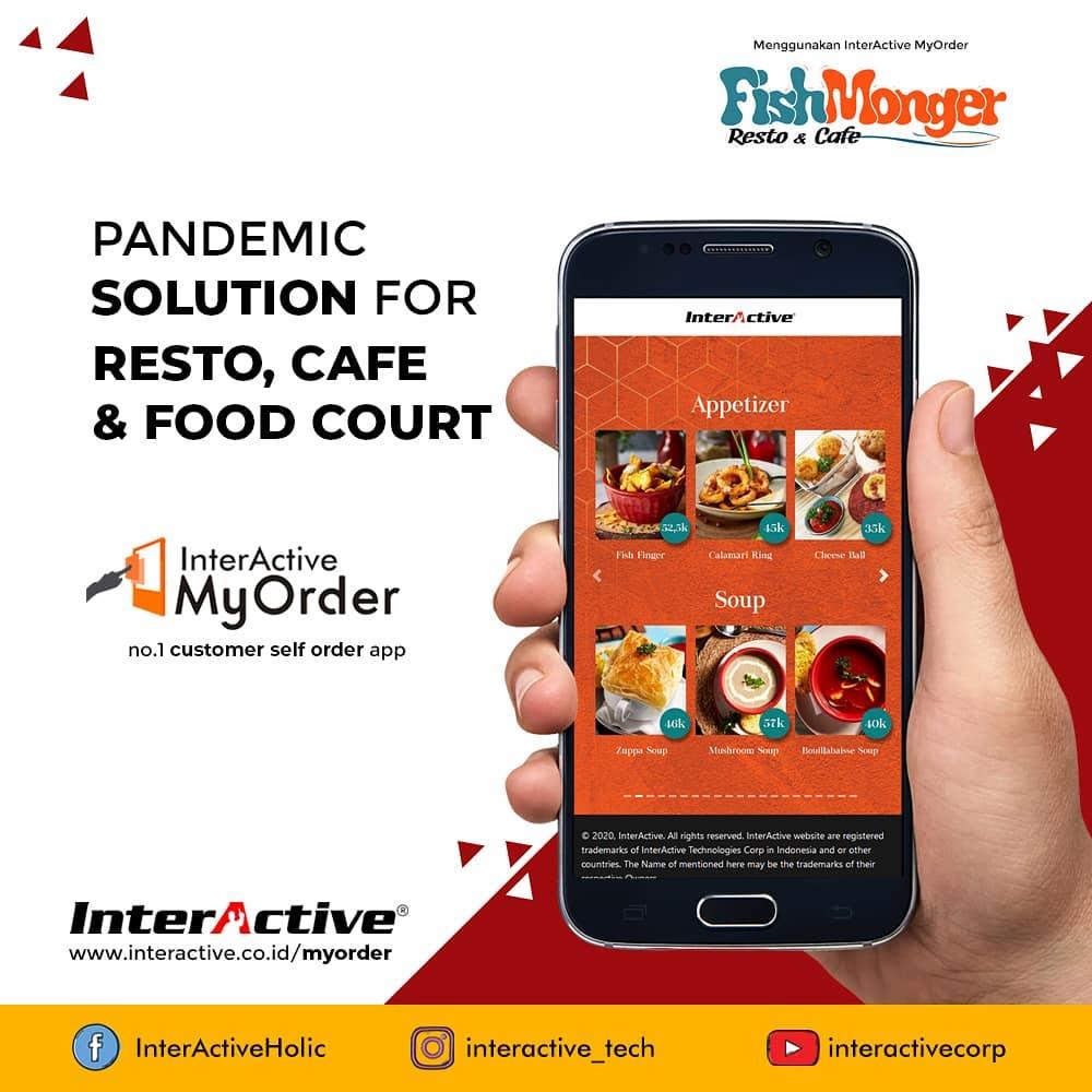 Klien InterActive, myorder,Fish Monger Resto & Cafe, InterActive MyOrder