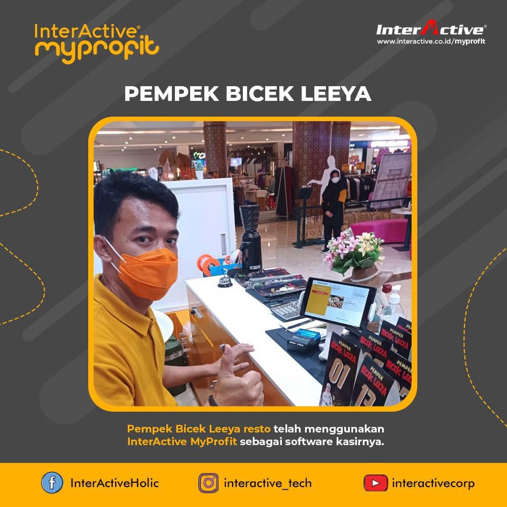 Klien InterActive, myprofit,Pempek Bicek Leeya resto, InterActive MyProfit