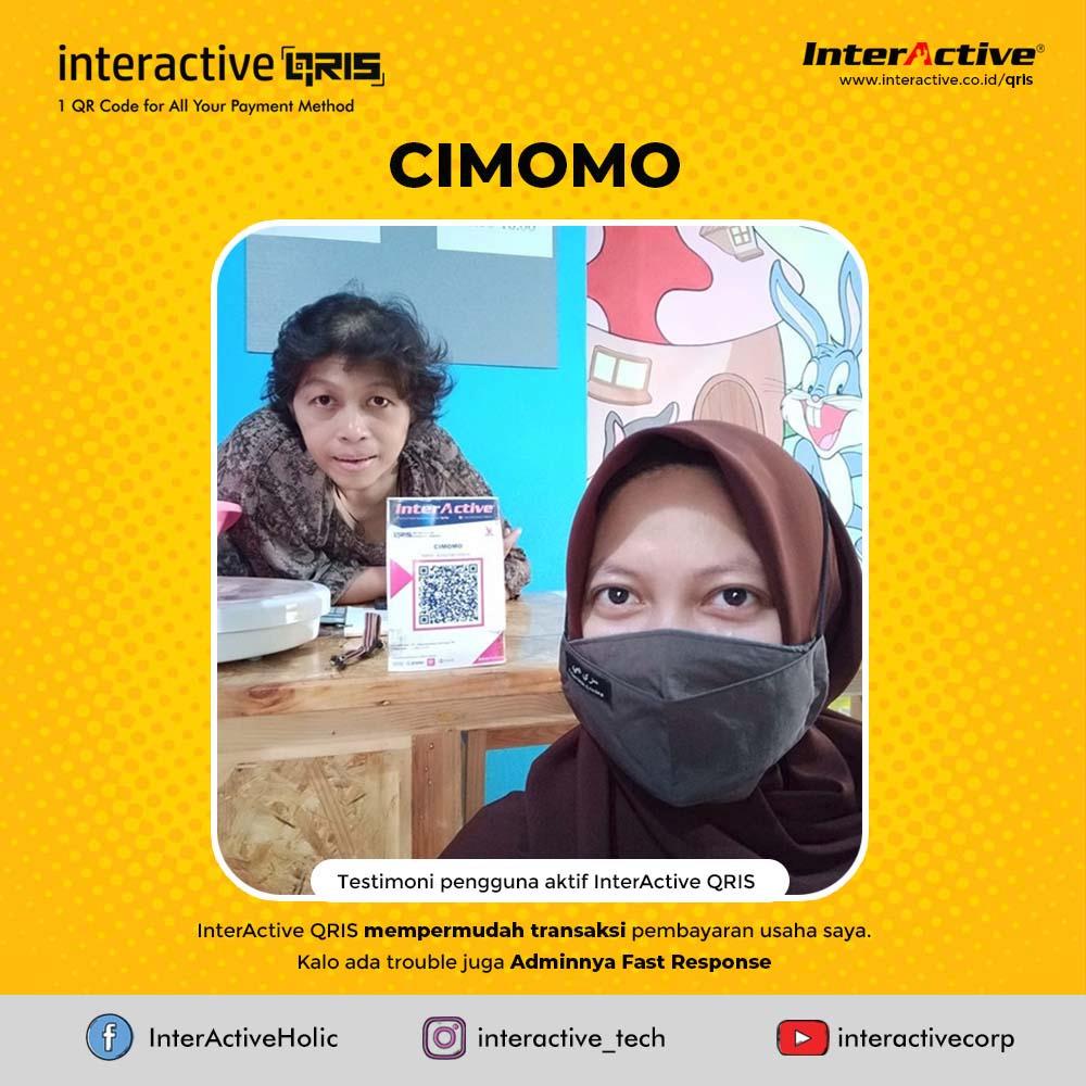 Klien InterActive, qris,CIMOMO, InterActive QRIS