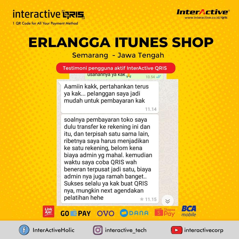 Klien InterActive QRIS Bisnis Erlangga Itunes Shop