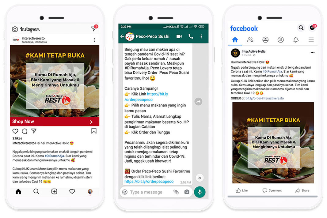 Interactive Myorder Link Self Order Link Order Makanan Hanya Melalui Sosmed Dan Whatsapp Dari Rumah